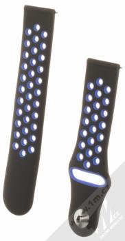 Handodo Double Color Strap silikonový pásek na zápěstí pro Xiaomi Amazfit Bip, Amazfit GTR, Amazfit GTS, Samsung Gear S2 Classic, Galaxy Watch 42, Watch Active, Gear Sport černá modrá (black blue)