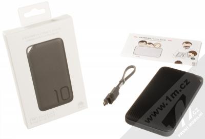 Huawei AP08Q Quick Charge PowerBank 18W záložní zdroj 10000mAh s technologií rychlého nabíijení černá (black) balení