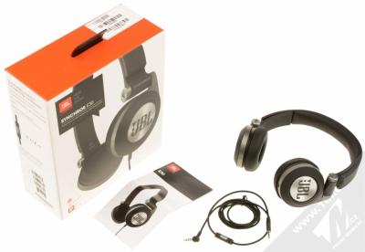 JBL Synchros E30 sluchátka s mikrofonem a ovladačem černá (black) balení