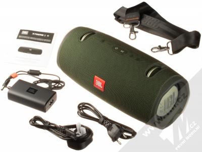JBL XTREME 2 voděodolný výkonný Bluetooth reproduktor zelená (green) balení
