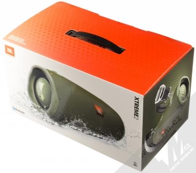 JBL XTREME 2 voděodolný výkonný Bluetooth reproduktor zelená (green) krabička
