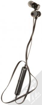 Karl Lagerfeld Bluetooth Stereo Earphones módní stereo headset s tlačítkem černá (black) komplet