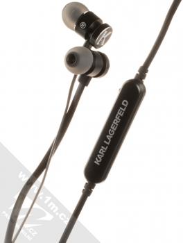Karl Lagerfeld Bluetooth Stereo Earphones módní stereo headset s tlačítkem černá (black)