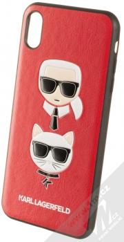 Karl Lagerfeld Karl and Choupette ochranný kryt s motivem pro Apple iPhone XS Max (KLHCI65KICKCRE) červená (red)