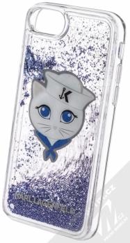 Karl Lagerfeld Sailor Choupette Liquid Glitter Case ochranný kryt s přesýpacím efektem třpytek pro Apple iPhone 6, iPhone 6S, iPhone 7, iPhone 8 (KLHCI8KSCH) tmavě modrá (navy blue) animace 2