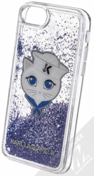 Karl Lagerfeld Sailor Choupette Liquid Glitter Case ochranný kryt s přesýpacím efektem třpytek pro Apple iPhone 6, iPhone 6S, iPhone 7, iPhone 8 (KLHCI8KSCH) tmavě modrá (navy blue) animace 3