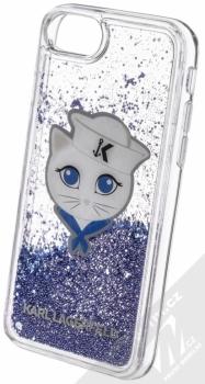 Karl Lagerfeld Sailor Choupette Liquid Glitter Case ochranný kryt s přesýpacím efektem třpytek pro Apple iPhone 6, iPhone 6S, iPhone 7, iPhone 8 (KLHCI8KSCH) tmavě modrá (navy blue) animace 4