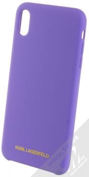 Karl Lagerfeld Silicone Logo ochranný kryt pro Apple iPhone XS Max (KLHCI65SLVOG) fialová (violet)