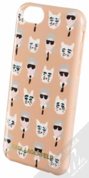 Karl Lagerfeld The Artist ochranný kryt s motivem pro Apple iPhone 6, iPhone 6S (KLHCP6KKPCA) béžová (beige)