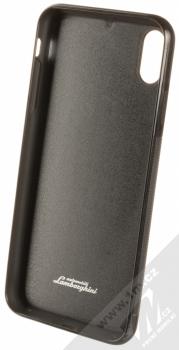 Lamborghini Huracan D6 Leather ochranný kryt z pravé kůže pro Apple iPhone XS Max (LB-TPUPCIPXSM-HU/D6-BK) černá (all black) zepředu