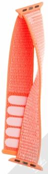 Maikes Nylon Strap textilní pásek na zápěstí pro Apple Watch 38mm oranžová (orange) rozepnuté