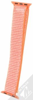Maikes Nylon Strap textilní pásek na zápěstí pro Apple Watch 38mm oranžová (orange) zezadu