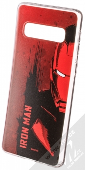 Marvel Iron Man 004 TPU ochranný silikonový kryt s motivem pro Samsung Galaxy S10 červená (red)