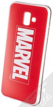 Marvel Logo 001 TPU ochranný silikonový kryt s motivem pro Samsung Galaxy J6 Plus (2018) červená (red)