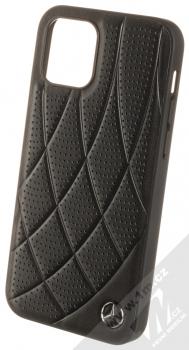 Mercedes Quilted Perforated Bow Line ochranný kryt pro Apple iPhone 12, iPhone 12 Pro (MEHCP12MDIQBK) černá (black)