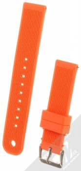 MiJobs Vertical Lines Silicone Wrist Strap silikonový pásek na zápěstí pro Xiaomi Amazfit Bip, Amazfit GTR, Amazfit GTS, Samsung Galaxy Watch 42mm, Galaxy Watch Active, Gear S2 Classic, Gear Sport oranžová (orange)