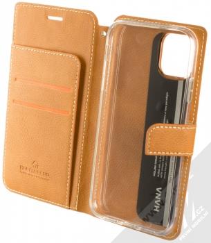 Molan Cano Issue Diary flipové pouzdro pro Apple iPhone 11 hnědá (brown) otevřené