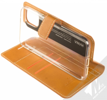 Molan Cano Issue Diary flipové pouzdro pro Apple iPhone 11 hnědá (brown) stojánek