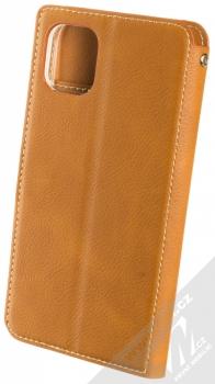 Molan Cano Issue Diary flipové pouzdro pro Apple iPhone 11 hnědá (brown) zezadu