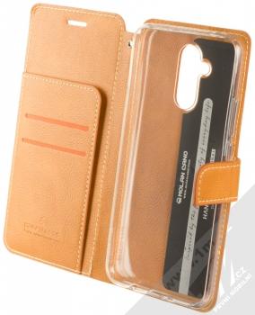 Molan Cano Issue Diary flipové pouzdro pro Huawei Mate 20 Lite hnědá (brown) otevřené