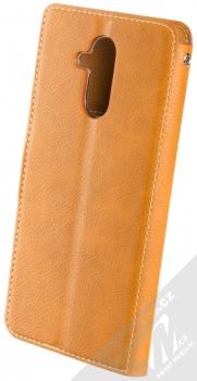 Molan Cano Issue Diary flipové pouzdro pro Huawei Mate 20 Lite hnědá (brown) zezadu