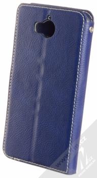 Molan Cano Issue Diary flipové pouzdro pro Huawei Y5 (2017), Y6 (2017) tmavě modrá (navy blue) zezadu