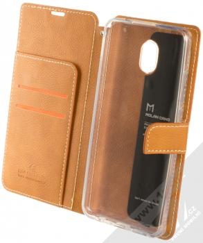 Molan Cano Issue Diary flipové pouzdro pro Xiaomi Redmi 8A hnědá (brown) otevřené