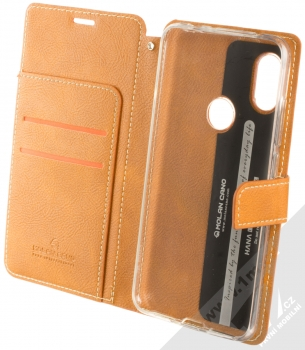 Molan Cano Issue Diary flipové pouzdro pro Xiaomi Redmi Note 6 Pro hnědá (brown) otevřené