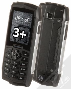 MyPhone Hammer 3 Plus + TWIST SIM KARTA INTERNET kredit 200 v ceně 199Kč ZDARMA stříbrná (silver)