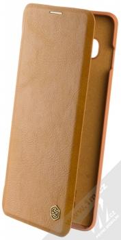 Nillkin Qin flipové pouzdro pro Samsung Galaxy S10 Plus hnědá (brown)