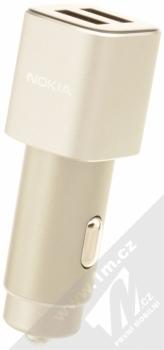 Nokia DC-801 Double USB nabíječka do auta s 2x USB výstupem stříbrná (silver)
