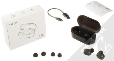 QCY T1S True Wireless Bluetooth stereo sluchátka černá (black) balení
