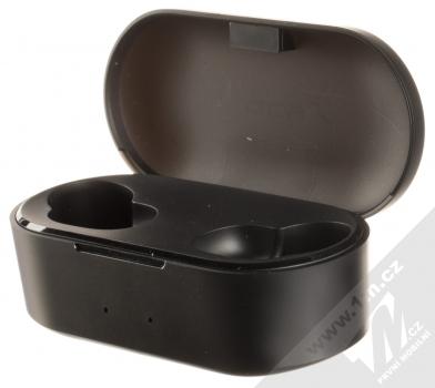 QCY T1S True Wireless Bluetooth stereo sluchátka černá (black) nabíjecí pouzdro otevřené