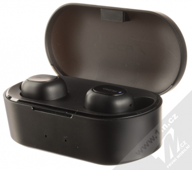 QCY T1S True Wireless Bluetooth stereo sluchátka černá (black) nabíjecí pouzdro se sluchátky