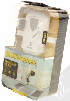 Remax RM-C26 Transformer univerzální držák do auta s přísavkou pro mobilní telefon, mobil, smartphone bílá šedá (white grey) krabička