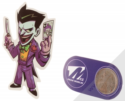 Samolepka Joker s žolíkem a břitvou 1 měřítko
