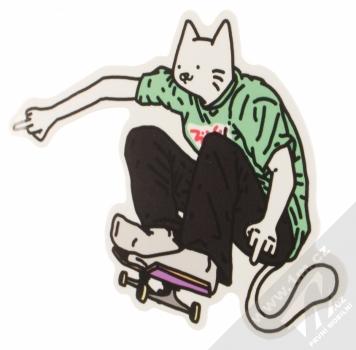 1Mcz Samolepka Kočičí skejťák 1