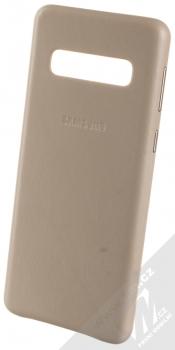 Samsung EF-VG973LJ Leather Cover kožený originální ochranný kryt pro Samsung Galaxy S10 šedá (grey)
