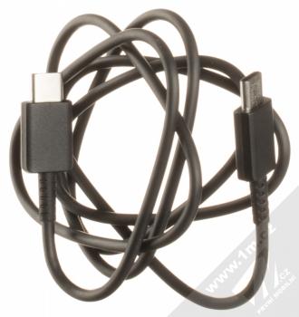 Samsung EP-TA800EB originální nabíječka s USB Type-C výstupem a Samsung EP-DA705BB originální USB Type-C kabel černá (black) USB Type-C kabel komplet