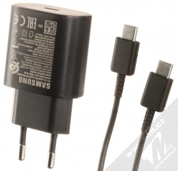 Samsung EP-TA800EB originální nabíječka s USB Type-C výstupem a Samsung EP-DA705BB originální USB Type-C kabel černá (black)