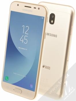Samsung SM-J330F/DS Galaxy J3 (2017) + POUZDRO FIXED Velvet 4XL v ceně 299Kč ZDARMA zlatá (gold)