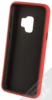 Sligo Defender Solid odolný ochranný kryt pro Samsung Galaxy S9 červená černá (red black) zepředu