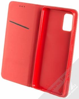 Sligo Smart Magnet flipové pouzdro pro Samsung Galaxy A51 červená (red) otevřené