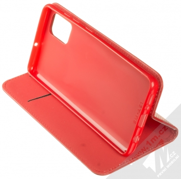 Sligo Smart Magnet flipové pouzdro pro Samsung Galaxy A51 červená (red) stojánek