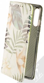 Sligo Smart Trendy Bílá orchidej flipové pouzdro pro Huawei P30 Lite bílá zelená (white green)