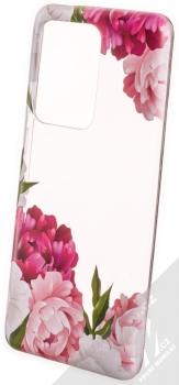 Sligo Trendy Záhonek růžových pivoněk TPU ochranný kryt pro Samsung Galaxy S20 Ultra průhledná (transparent)