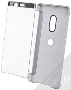 Sony SCTH70 Style Cover Touch originální flipové pouzdro pro Sony Xperia XZ3 šedá (gray) otevřené