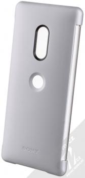 Sony SCTH70 Style Cover Touch originální flipové pouzdro pro Sony Xperia XZ3 šedá (gray) zezadu