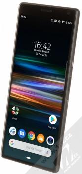 Sony Xperia 10 černá (black) šikmo zepředu
