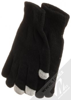 URan Touch Gloves Basic pletené rukavice pro kapacitní dotykový displej černá (black)